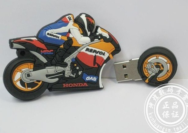 Genuine 4GB 8GB 16GB 32GB Cool Motorcycle USB 2.0 Memory Stick Flash Drive(China (Mainland))