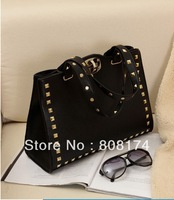 Big bag 2013 new European and American fashion wild rivet bag woman bag shoulder bag baobao