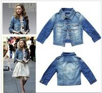 Free shipping 2014 Original single cowboy jacket female summer jacket sleeve denim jacket