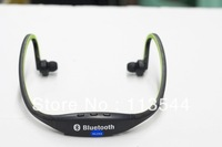 Hot selling black wireless bluetooth  headset earphone mobile phone headphone free shipping