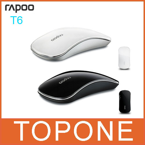New 100% Authentic Rapoo T6 Wireless Mouse 2.4GHz Wireless Multi-touch Mouse for Notebook and Desktop,Free shipping(China (Mainland))