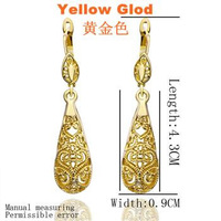 free shipping 18 K gold plated earrings Genuine Austrian crystals earrings,Nickle free antiallergic factory prices vcw kd E345
