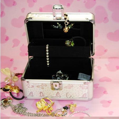 2013 Fashion Magic box Make up and Cosmetic Jewelry box and club vanity case & gold,Pink,Purpl women mini clutcches DJ box(China (Mainland))
