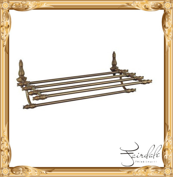 Forged Solid Brass Antique Brass royalty Villa Luxurious bath towel shelf set(China (Mainland))