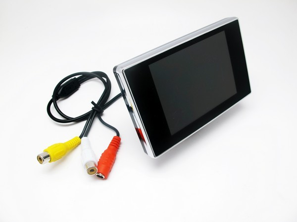 Factory Price! Mini 3.5 Inch Car Rearview Camera DVD Monitor TFT LCD Screen DVD Monitor For Car Backup(China (Mainland))