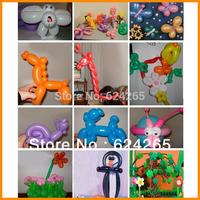 50pcs/lot Mixed Color Magic LONG ANIMAL TYING MAKING Balloons Twist Latex Balloons Buy 4 lot or more Free gift Foot Pump