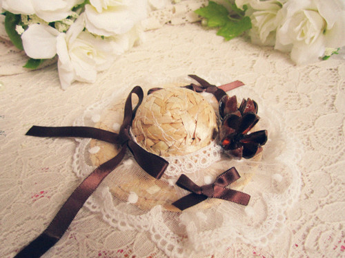 Cos , lolita lourie small strawhat small formal dress cap(China (Mainland))