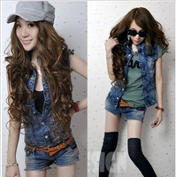 Hot-selling personalized denim jumpsuit low-waist split spring and summer vest shorts belt
