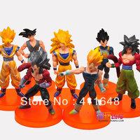 """7Pcs/Set Dragonball Dragon Ball Z Action Figure Toy Pvc GOKU SON GOKOU VEGETA Super Saiyan 10cm-12cm/4""""-5""""Free Shipping"""