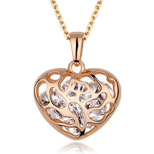 Wish box 2 crystal necklace female heart fashion elegant ol day gift(China (Mainland))
