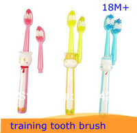 hot selling, baby kid training toothbrush, extra brush, replacable, soft tip, dental care,cartoon design, free shipping