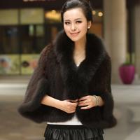 2013 autumn and winter female fur cape large fox fur mink fur coat h51