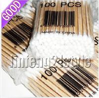 High temperature b064 100% cotton antibiotic medical cotton swab multithread scytale cotton swab eco-friendly wooden cotton