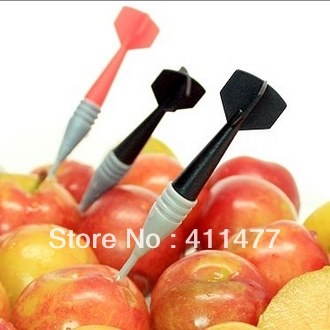 Free Shipping Dart Style Fruit Forks,New Listed With Mulit-Color Forks,Forks,5Piece/Lot(China (Mainland))