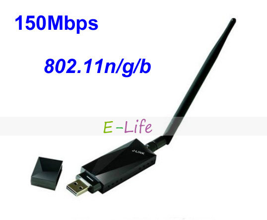 LJ-6100 2.4GH Mini 150Mbps USB Wireless WIFI Network Card 802.11n/g/b LAN Adapter with 5dbi Antenna windows 7/ XP(China (Mainland))