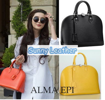 2013 HOT Design ALMA EPI Leather Bag Top Handle Bag Handbag Women's Tote Bag Purse 38CM ,12 Colors ,Free Shipping