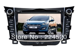 "7"" In Dash Car DVD Player for Hyundai I30 2012 Elantra GT with GPS Navi BT RDS AUX TV Stereo Auto Multimedia Player CAN Bus(China (Mainland))"
