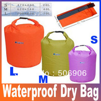 Terylene Canoe Kayak Rafting Camping Waterproof Dry Bag Outdoor Organize Swimming Climbing 20L40L70L Size L M S FreeShipping