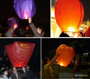 10  PCS FIRE SKY CHINESE LANTERNS BIRTHDAY WEDDING Wishing lights