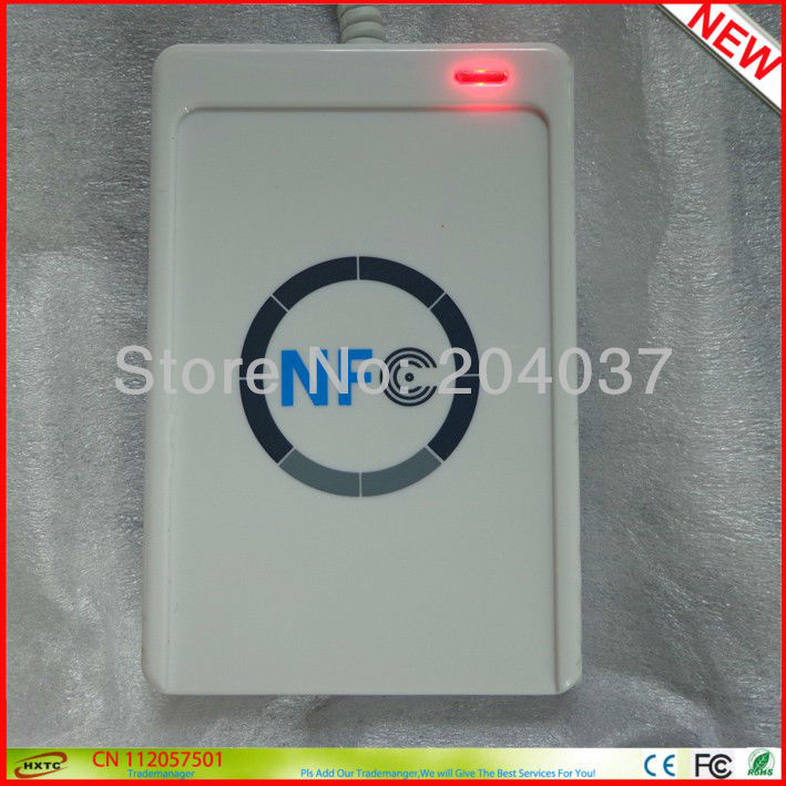 Near Field Communication RFID NFC Smart Card Reader writer/leitor ACS ACR122U 13.56MHZ with NFC Development Kit Free Shipping(China (Mainland))