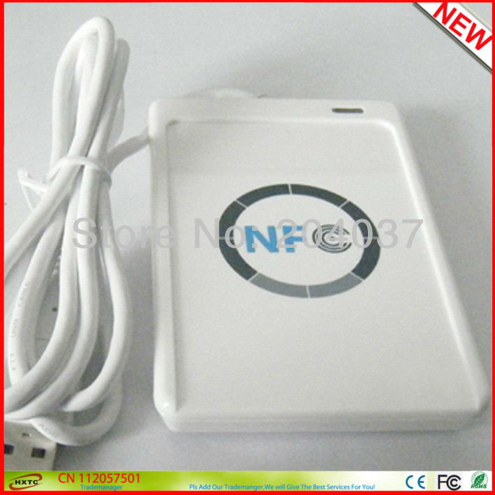 Online Micro-payment Transactions NFC Smart Card / kart Reader/Okuyucular ACR122U +2PCS M1 cards+1SDK Software CD Free Shipping(China (Mainland))