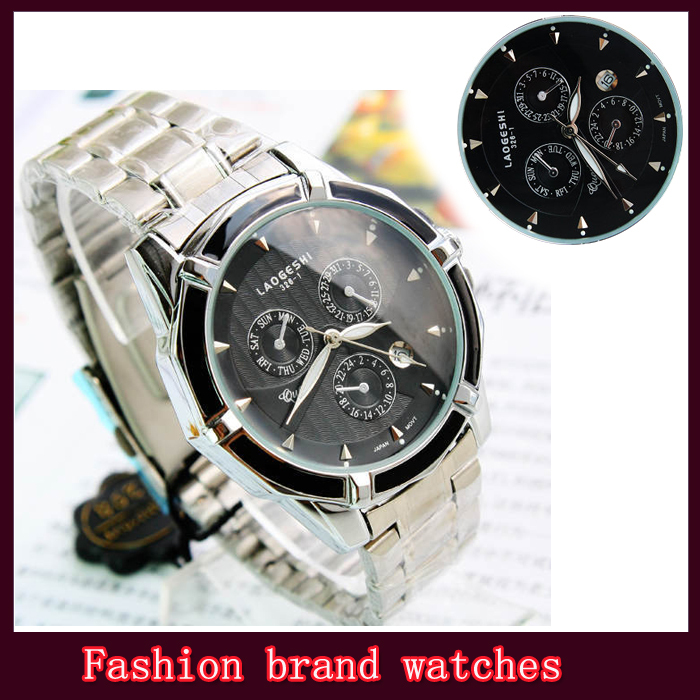 Brand Business Wristwatches men quartz watches luxury classic calendar high quality free shipping(China (Mainland))