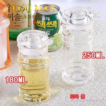 Quality oil bottle leak oiler soy sauce and vinegar cruet pot of vinegar transparent thickening 240g