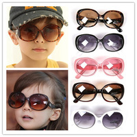 2013 New Fashion Glasses Korean style kids sunglasses with Free Case children boys and girls 5 colors Brand Sunglasses