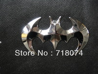 wholesale !!! 3D Batman Bat animal sticker metal chrome badge Car truck emblem badge decoration self adhesive Free shipping