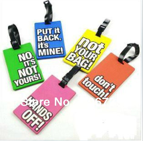 Free Shipping 50pcs/lot Nice&High Quality Silicon Luggage Tag, Travel name Tag, wholesale(China (Mainland))