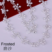 S-N198 Free shipping,wholesale,925 silver grapes necklace,fashion jewelry, Nickle free,antiallergic,factory price