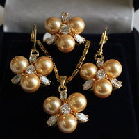 Women's new Jewellery Bridal > Lady's Sallei nanyang pearl 8mm sallei gold pearl set birthday gift 63