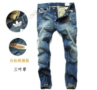 men's fashion brand jeans, top quality 100% cotton Comfortable jeans for men free shipping