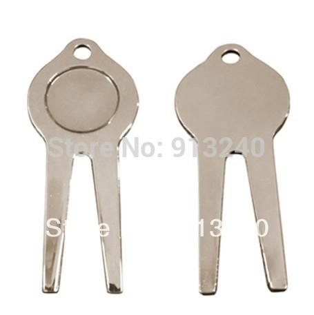 silver color metal golf divot repair tools 100pieces/lot(China (Mainland))