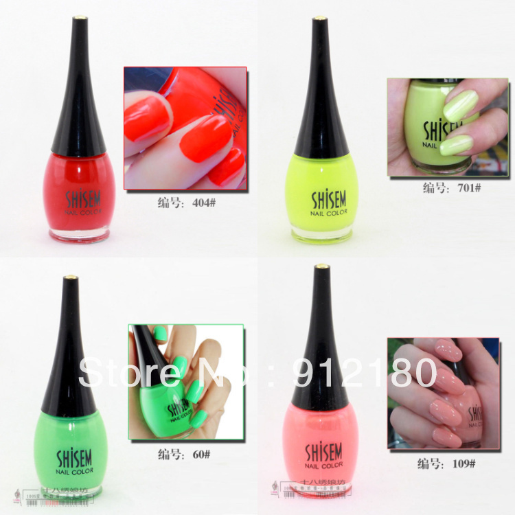 Free Shipping Wholesale 15ml Quick-drying DIY Nail Polish Oil Candy Color Cheap Price 24 Colors 6pcs/lot(China (Mainland))