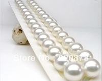 HUGE 11-12 MM AAAA AKOYA WHITE SHELL PEARL NECKLACE 18 INCH