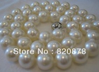 AAA+ 10MM SOUTH SEA SHELL WHITE PEARL NECKLACE 18 INCH