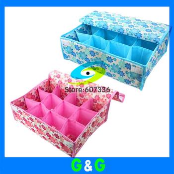 FREE SHIPPING 10pcs/lotcolorful Underwear  Foldable Storage Box,Creative Lovely Box For Bra Necktie,Socks