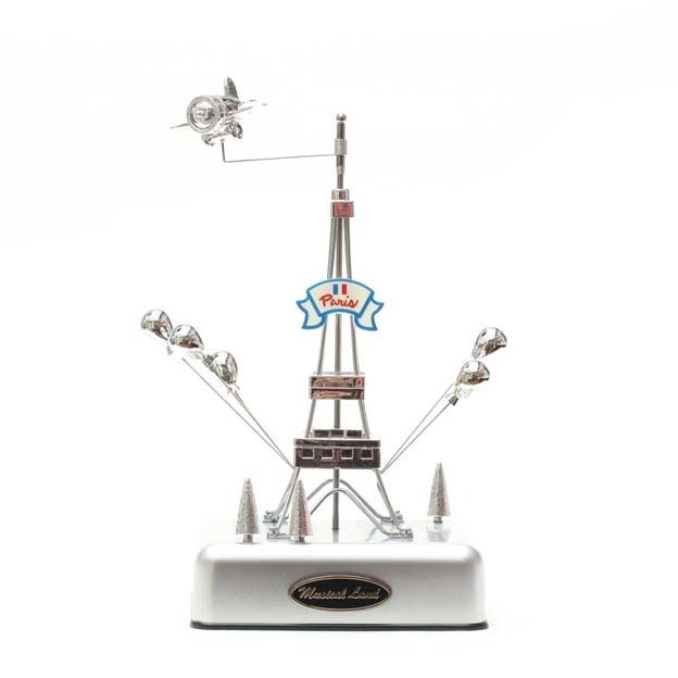 Birthday gift music box op-1290 small eiffel tower(China (Mainland))