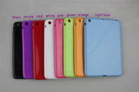 Hot sale!!! free shipping 5pcs/lot New candy Color Soft TPU Gel Case Cover for Apple iPad Mini