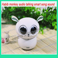 3.5mm audio interface HIFI speaker connects PC CD MP3 MP4 Mobile phone Habib monkey Intelligence talking speaker & free shipping