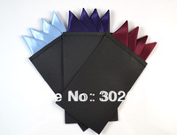 New Men's Pre Folded Pocket Square Solid Color Hanky Card Crown Insert Turquoise Free Shipping 50 PCS