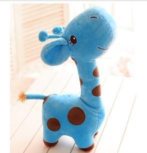 Free  ship  Cute blue  giraffe doll, plush toys /stuffed toys ,children gift,/birthday gift