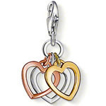 Ftime Jewelry, 18 k rose gold plated heart pendant charms (1.7x1.2cm) fit bracelets TS-M009(China (Mainland))