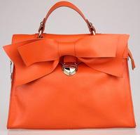 Free shipping wholesale retail Ladies exquisite bowknot fashion genuine leather bag hand shoulder Messenger handbags 34