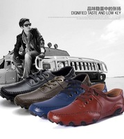 Free Shipping 2013 new men's comfortable leather driving Mocassins , soft loafers , business men jinl70 of