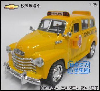 Free shipping, Soft world CHEVROLET 1950 bus school bus car alloy car model toy