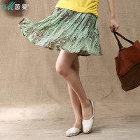 Inman 2013 summer short skirt female bust gentlewomen skirt print tuck 8311120046