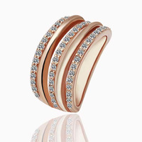 18K gold plated ring fashion ring Genuine Austrian crystals italina ring,Nickle free antiallergic factory prices tad abs GPR067