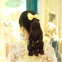 Wig pear roll horseshoers wig medium-long curls horseshoers wig piece